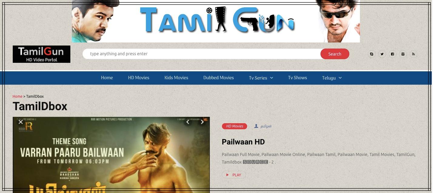 TamilDbox Website 2021
