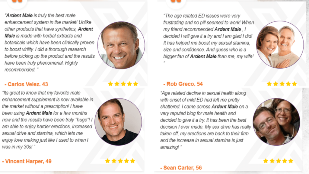 Ardent Male Enhancement customer reviews & complaints
