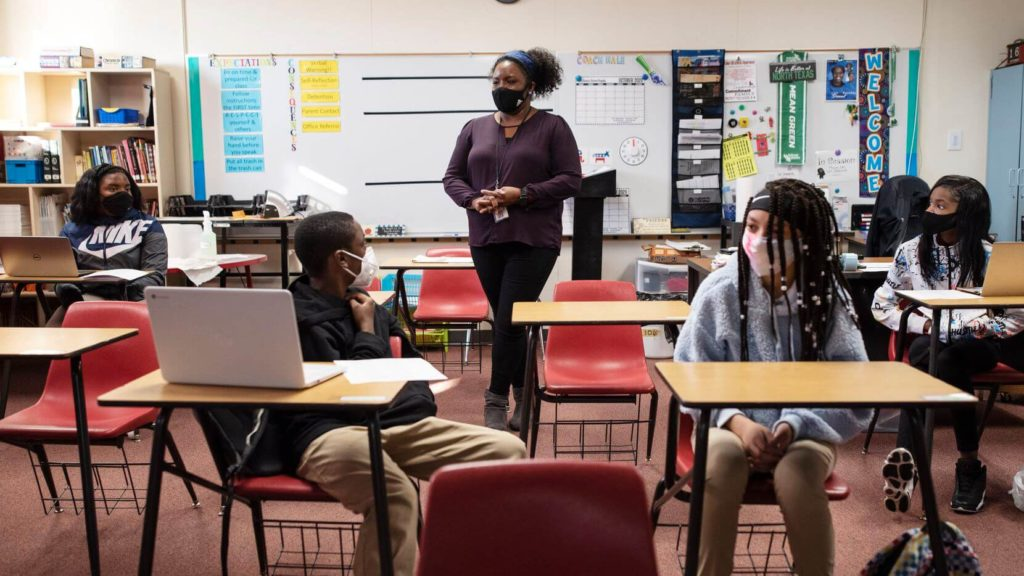 Houston To Join Schools Rebelling Against State Bans On Mask Mandates.