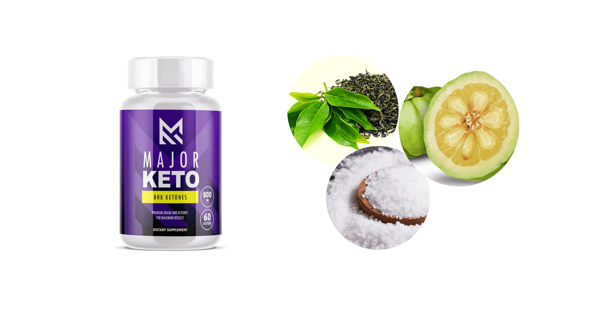 Major Keto solution ingredients
