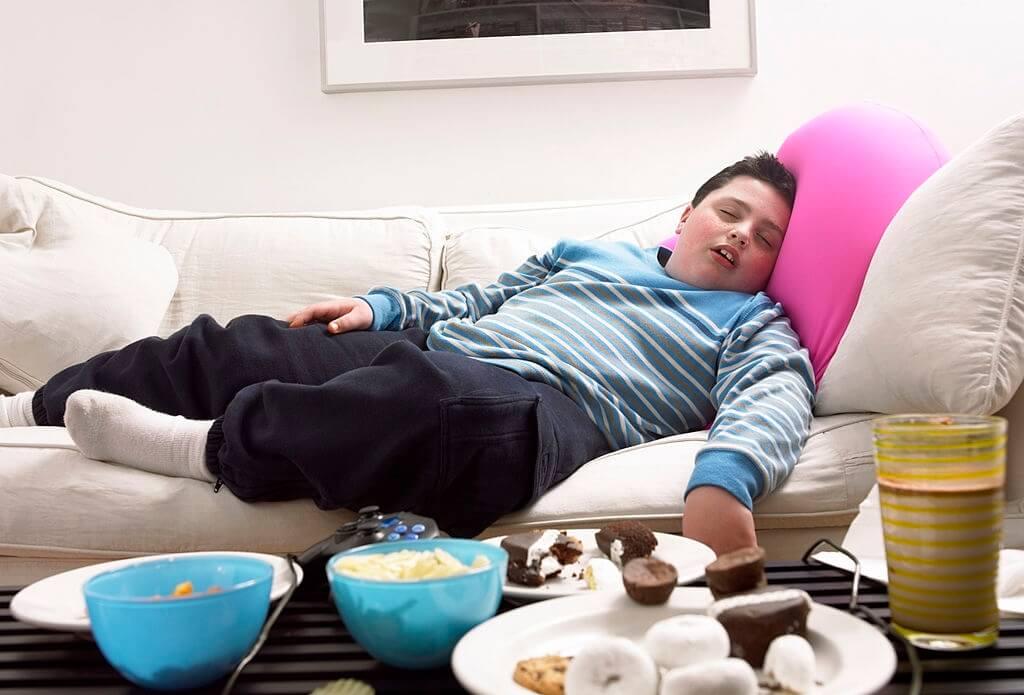 Sleep apnea and obesity syndrome in children